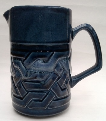 Blue Orzel Jug numbered MJ 100-2 Orzel_10