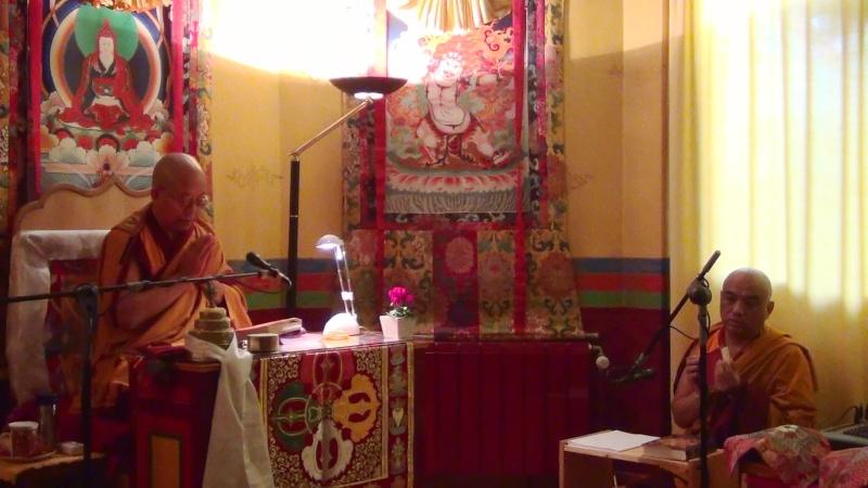 Khenchen Pema Sherab en France et en Belgique 20121013