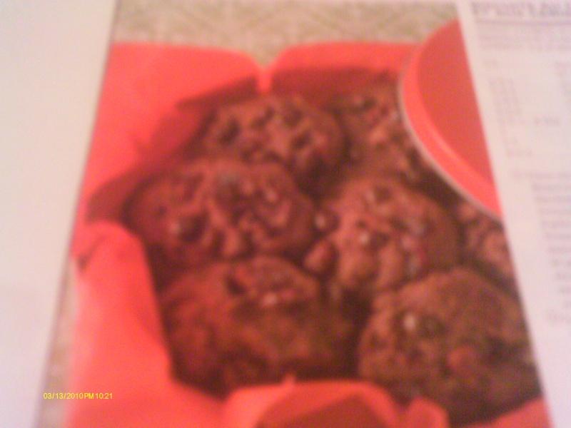 Biscuits au chocolat et aux cerises  Imag0515