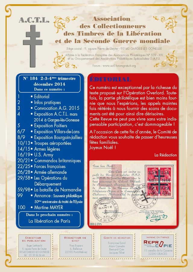 LA REVUE n° 184-185 2-3-4ème TRIMESTRE 2014 DEBARQUEMENT DE NORMANDIE 1er_de10