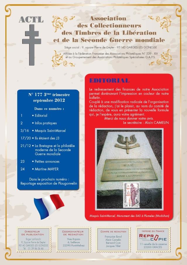 """LE BULLETIN DEVIENT """"REVUE"""" N° 177 2ème TRIMESTRE 2012 P_1_co10"""