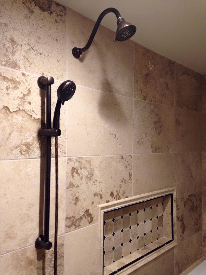 getting my house back together after 12 weeks of remodeling. Shower10