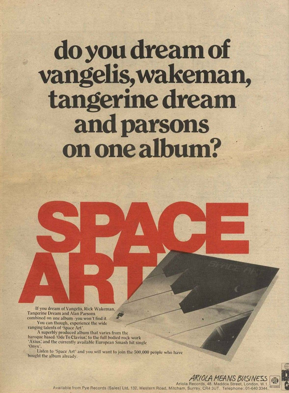 SPACE ART press ad from the 70s Spacea14