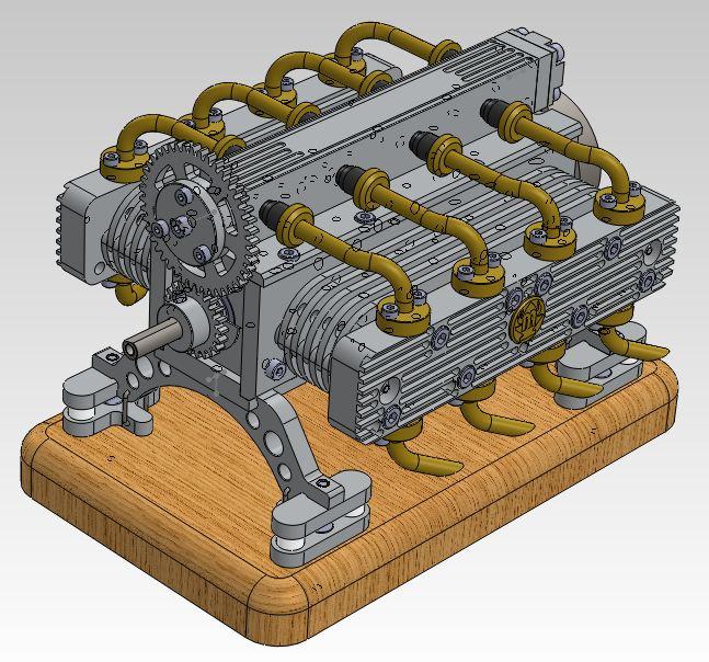 Moteur à air comprimé - 8 cylindres à plat Captur10
