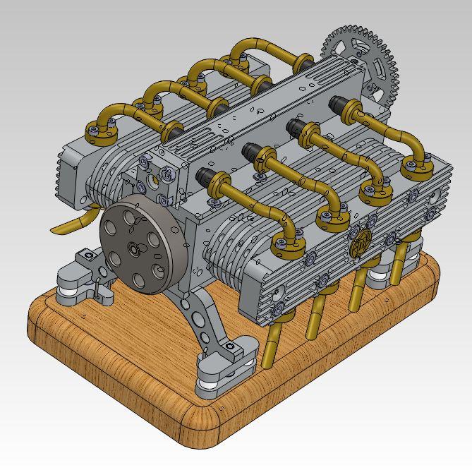 Moteur à air comprimé - 8 cylindres à plat Captur11