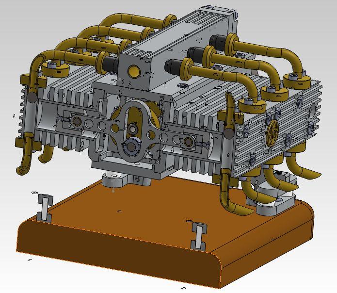 Moteur à air comprimé - 8 cylindres à plat Captur15