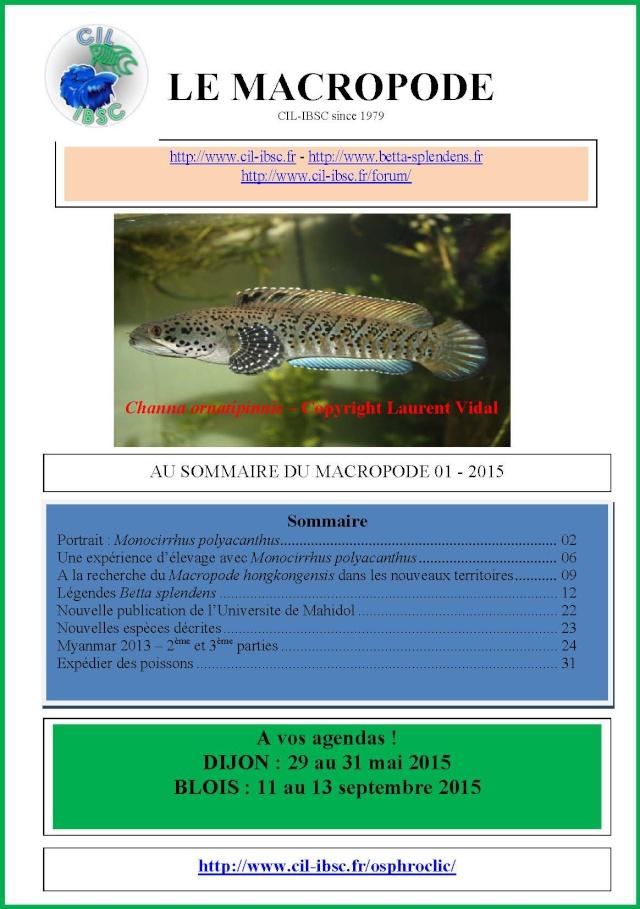 Sommaires revue du Macropode. 2015-010