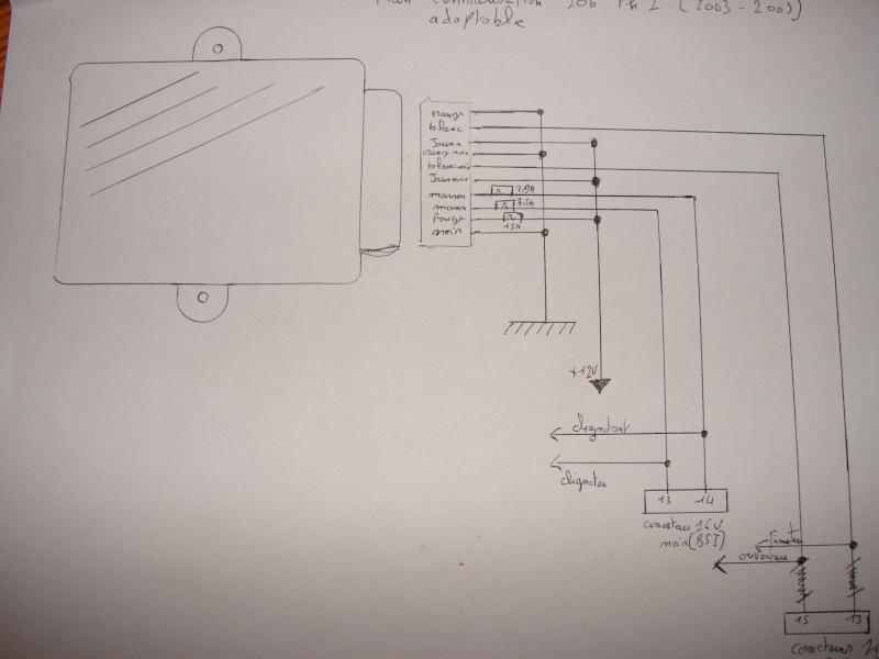 Tuto de montage d'un kit de commande de centralisation a distance 206  Dsc06111
