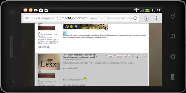 [NEW] Mobizen: Contrôler son Smartphone Android depuis son PC. Captur10