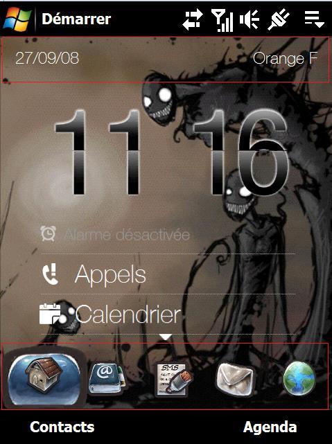 Thème Icônes Gant + Thème Gant 2 Screen40