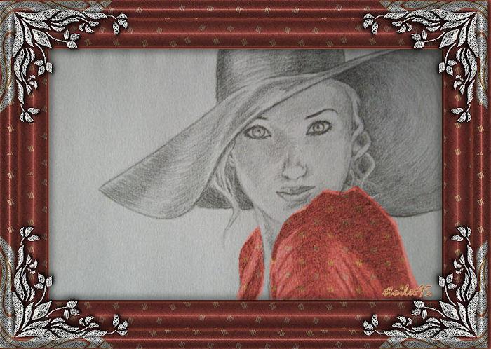 Cadre en étain(Psp) Femme110