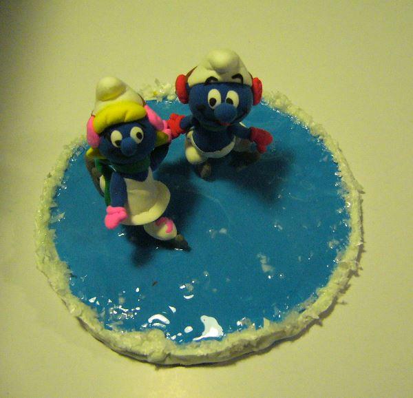 Petits schtroumpfs en pate polymère ( fimo , patarev, pate à modeler ....) Glace111