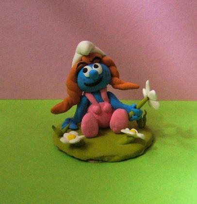 Petits schtroumpfs en pate polymère ( fimo , patarev, pate à modeler ....) Smurf410