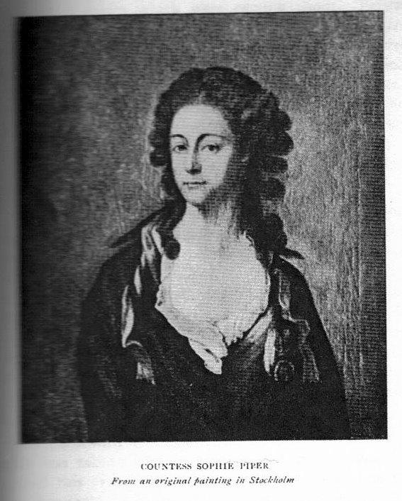 La comtesse Sophie Piper, née Eva Sophia von Fersen, soeur d'Axel de Fersen Fersen10
