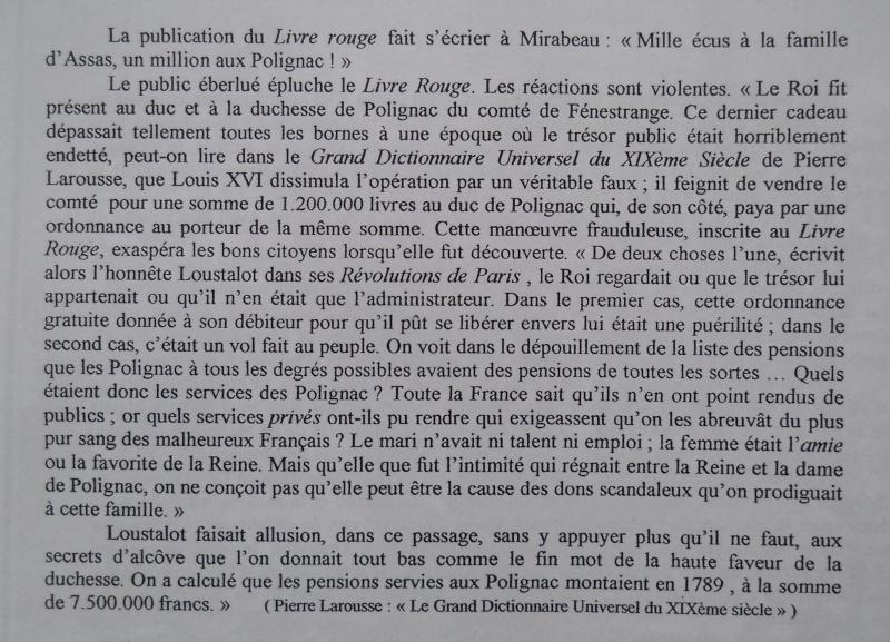 Les Polignac et la publication du Livre rouge Livre_11