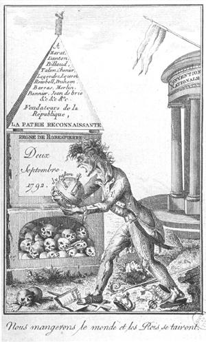 Les révolutionnaires caricaturés Robesp10