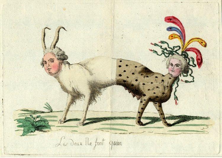 Marie-Antoinette, caricaturée en architigresse ou panthère autrichienne Tumblr10