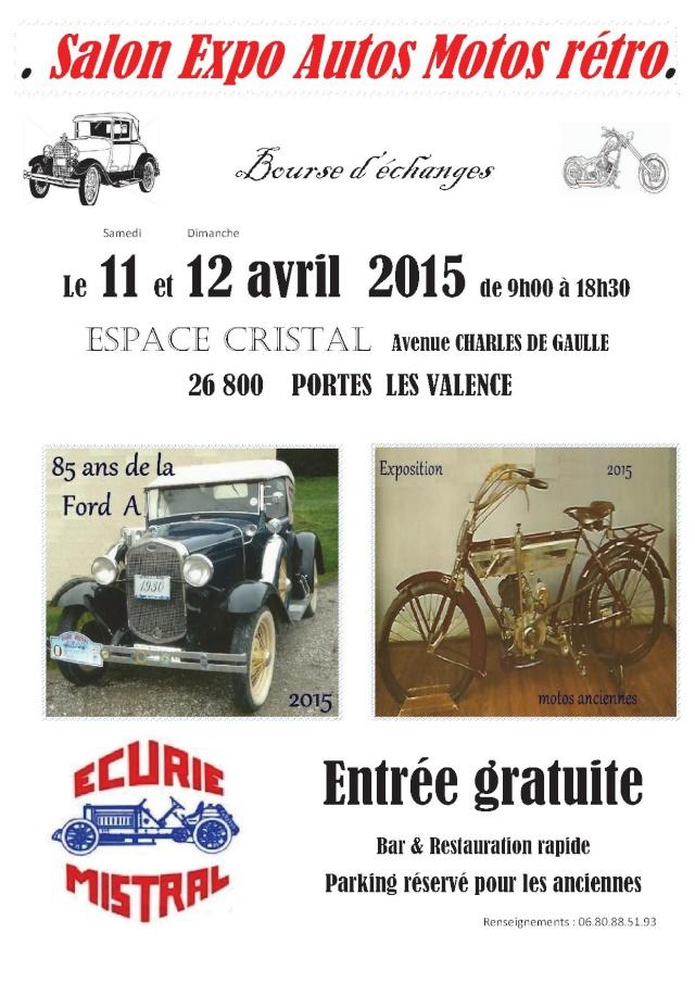 [26][11-12/04/15] Salon Expo Ecurie MISTRAL Ptes Les Valence Affich11