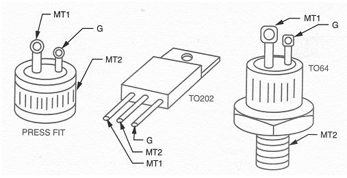 les composants electronique de puissance:le triac Triac10