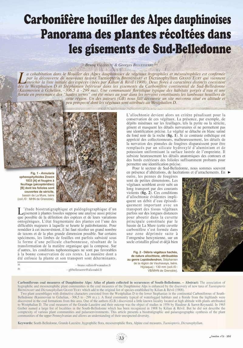 Bibliographie et sites web sur la  paléobotanique 21-alp11