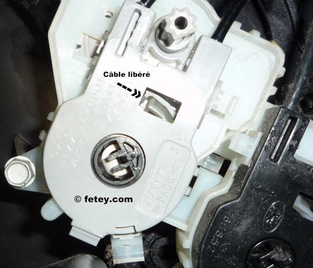 Ford Focus ZX5 SES 2005 2L, contrôle des trappes de ventilation brisé P1120216