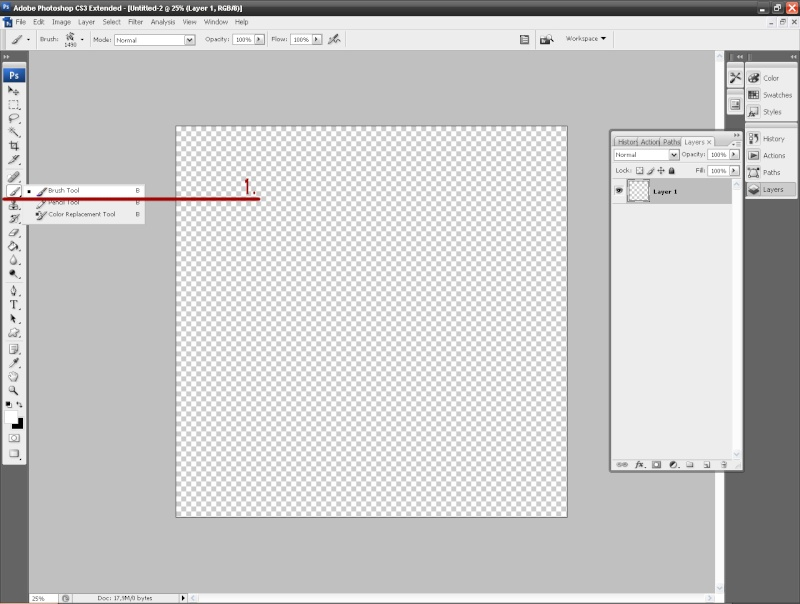 how to instal brush into PS 1st10