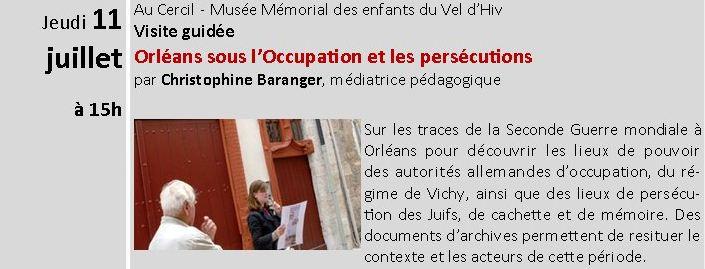 ORLEANS - Visites guidées juillet et Août 2013 - Orléans sous l'occupation et les persécutions Captur10
