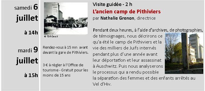 PITHIVIERS - Juillet et Août 2013 visites guidées de l'ancien camp d'internement Cercil11