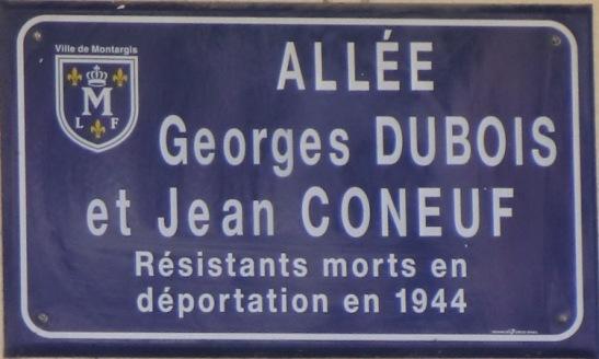 Plaque de rue Georges DUBOIS et Jean CONEUF - MONTARGIS Cimg0311