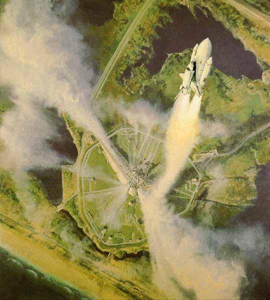 Image; peinture decollage shuttle Hurley10