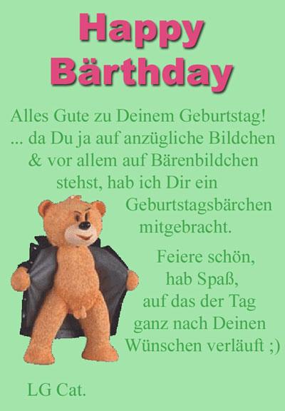 Happy Birthday Bärchen Tksdh12