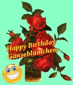 Happy Birthday Gänseblümchen Gb10