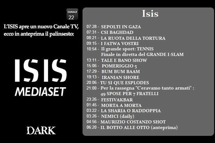 KhilafaLive, la tv dell'Isis, notizie 24 ore su 24  10942510