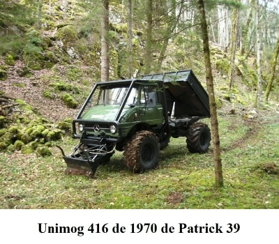 LES RESTAURATIONS ET LES PHOTOS D'UNIMOG Nb6410