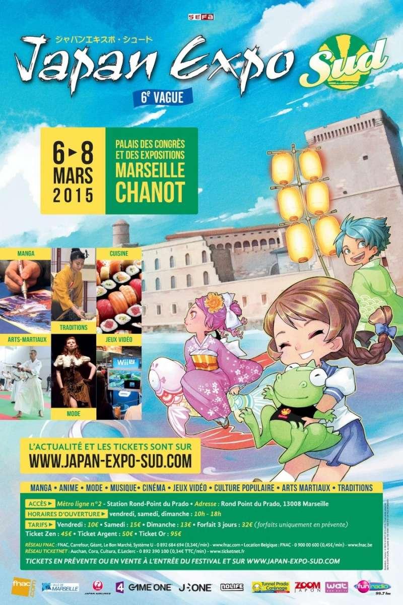 Japan Expo Sud, 6ème vague - Du 6 au 8 Mars 2015 - Parc Chanot Marseille Affich10