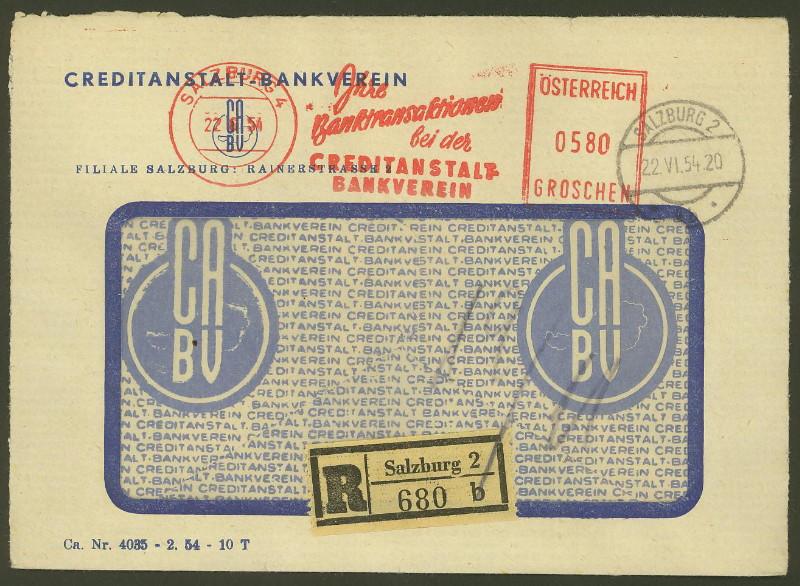 Briefe / Poststücke österreichischer Banken - Seite 3 At_cre10