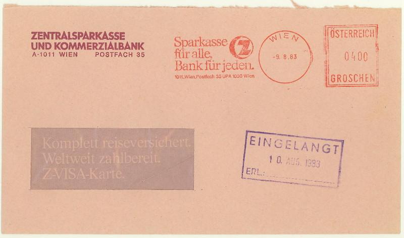 Briefe / Poststücke österreichischer Banken - Seite 2 At_zen10