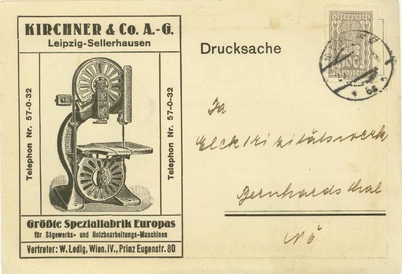 Werbeumschläge und -karten aus Österreich - Seite 2 Holzbe12