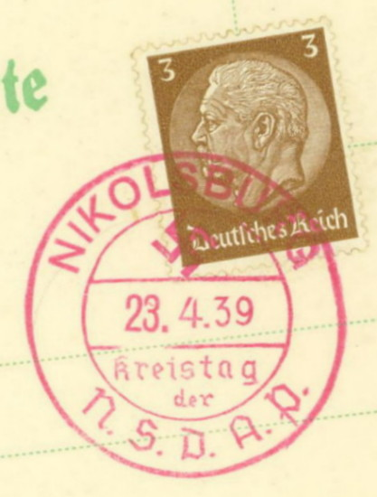 Sudetenland Brief, 1938, Nikols10
