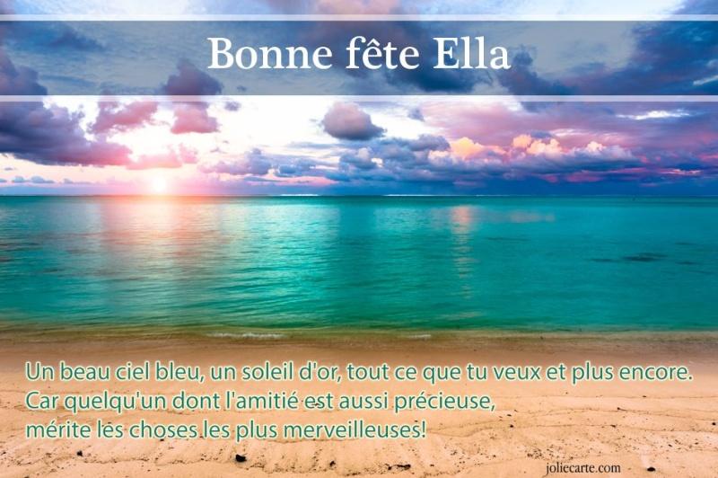 fête  à  souhaiter   - Page 2 Ella10