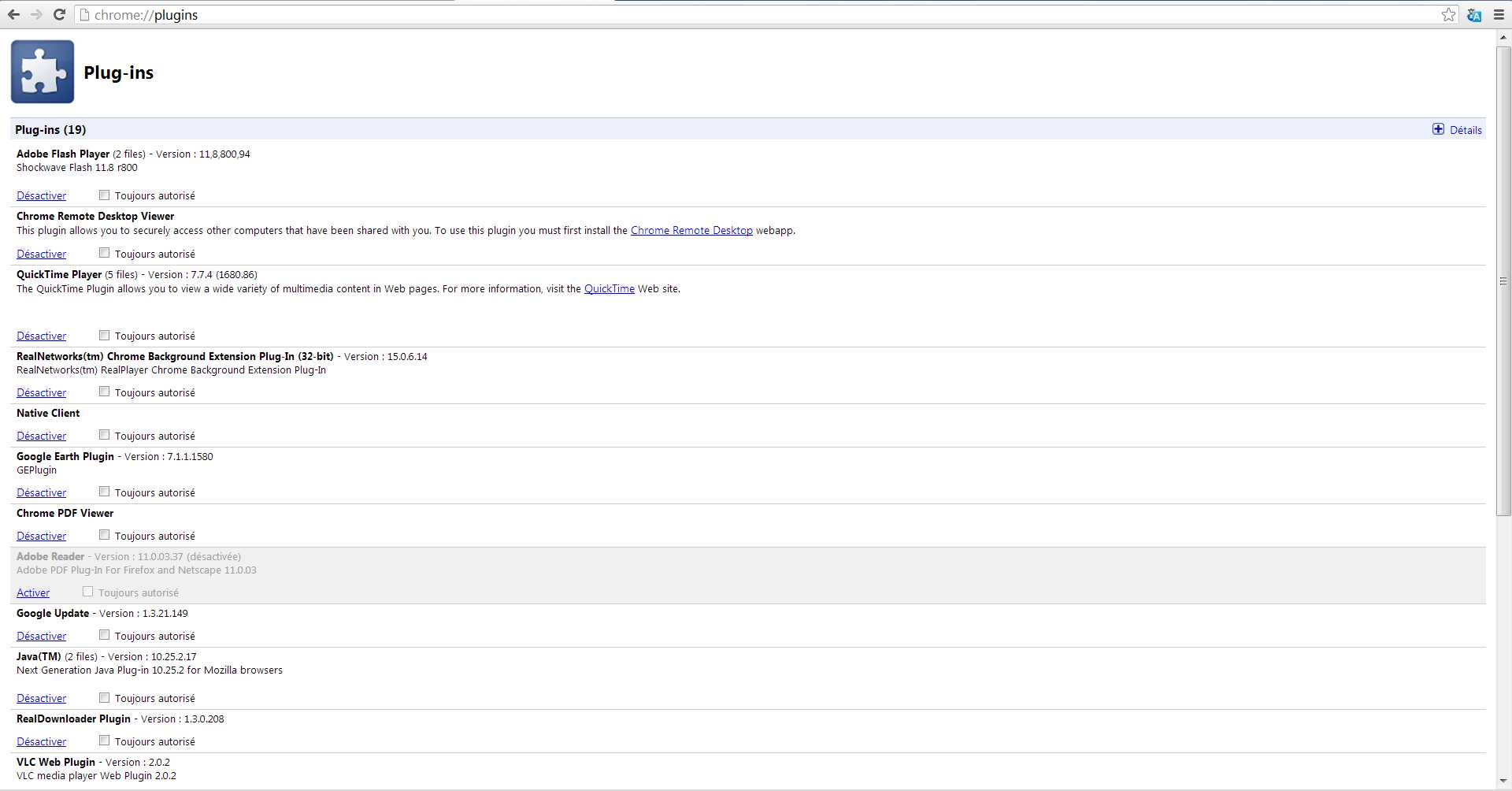 Crashs de Shockwave Flash avec Google Chrome 2013-056