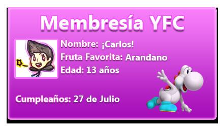[Anuncio] Tarjetas de Membresía Carlos10