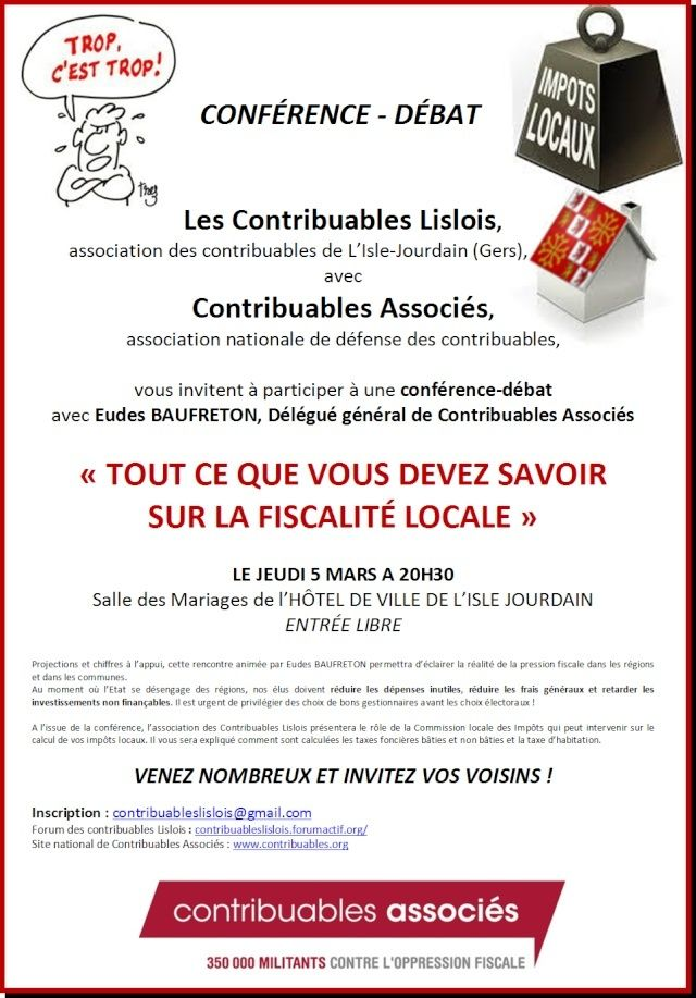 CONFÉRENCE - DÉBAT JEUDI 5 MARS 2015 A 20H30 Affich11