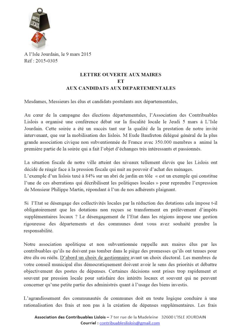 Lettre ouverte aux maires et aux candidats aux départementale Lettre10