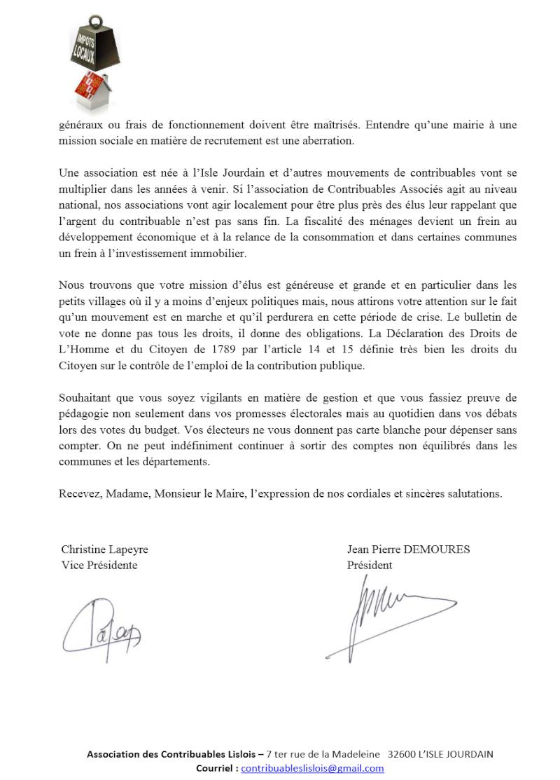 Lettre ouverte aux maires et aux candidats aux départementale Lettre11