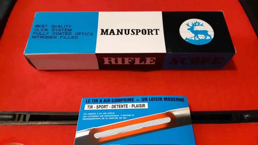 Pistolet air comprimé Manu Arm référence Manusport Cal. 4.5 en valisette 20210412