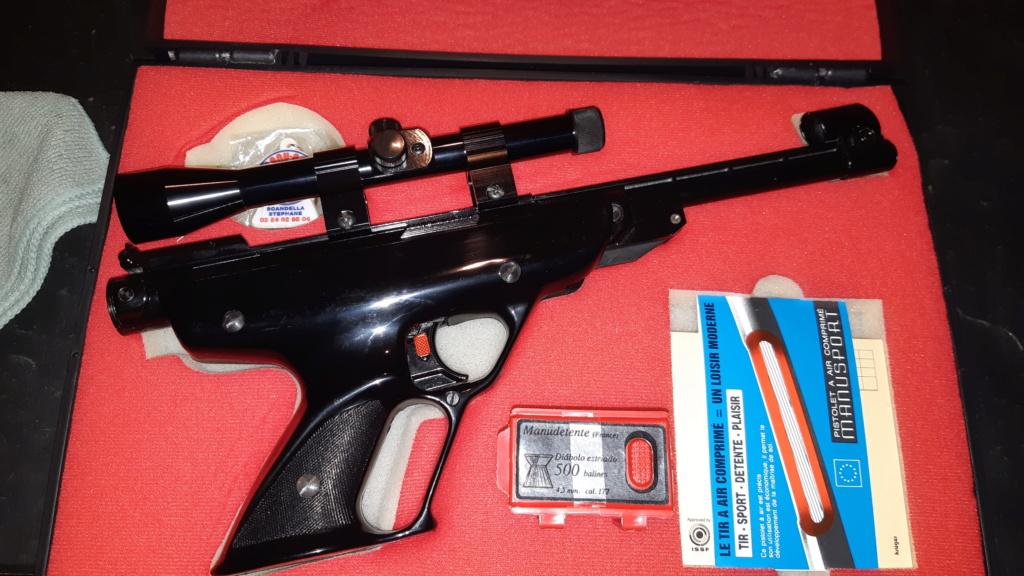 Pistolet air comprimé Manu Arm référence Manusport Cal. 4.5 en valisette 20210413