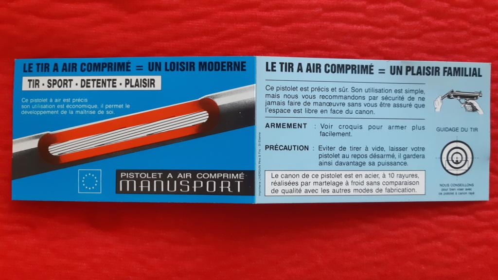 Pistolet air comprimé Manu Arm référence Manusport Cal. 4.5 en valisette 20210415