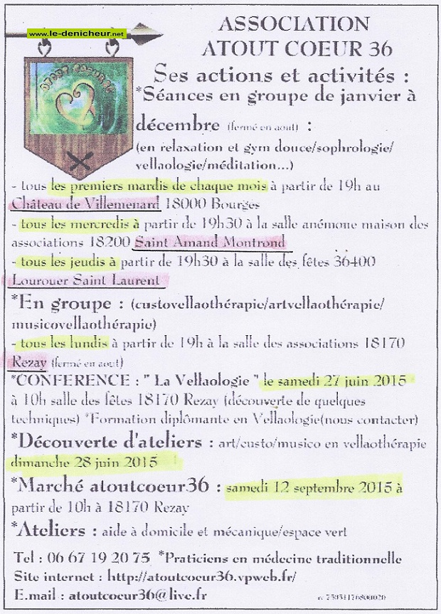 Actions et activités 2015 de l'Association Atout Coeur 36 2015_a10