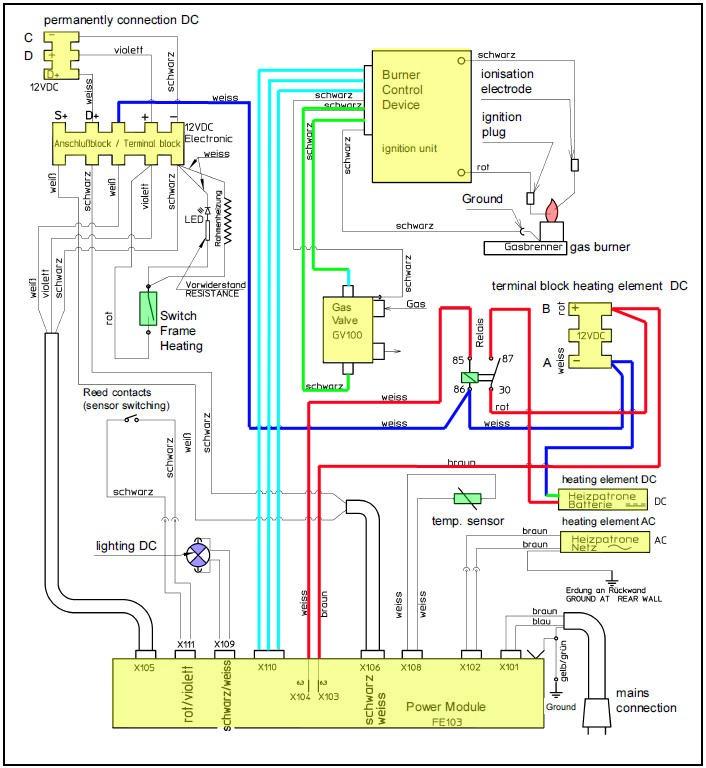 carte electronique sur frigo dometic Schema10